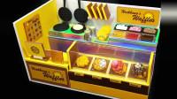小锋玩具,DIY微型写实店-饼店装饰13