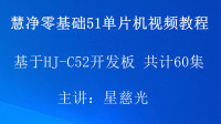 51单片机视频教程4 HJ-C52 STC烧写软件 手把手教你学51单片机