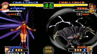 拳皇2000:雅典娜与ZERO互拼超杀,小姐姐超能力对抗高科技战斗服