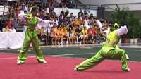 2004年全国女子武术套路锦标赛女子对练集锦 003 三节棍对盾牌刀棍
