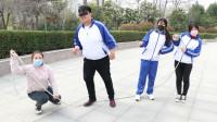 """学霸王小九校园剧:老师带同学们玩""""跳大绳"""",没想马三胖被合伙整蛊!真是太逗了"""