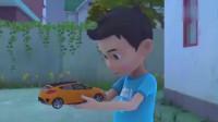 咖宝车神:小咖召唤跳跃先知修理房子,咖宝车神竟变成了玩具车?