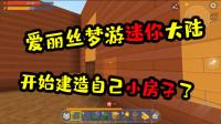 蜜糖迷你世界:爱丽丝梦游迷你大陆02开始建第一栋小房子啦