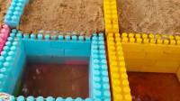 01儿童汽车玩具比赛挖掘机挖土视频儿童跑车挖掘机益智玩具故事早教!