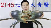 2145买一只斯里兰卡大青蟹,全网最大,钳子比胳膊还粗,非常霸气