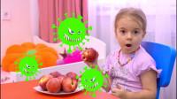 太奇妙,萌娃小萝莉和小正太想吃水果,可是妈妈为何不让他们吃?儿童亲子益智趣味游戏玩具故事