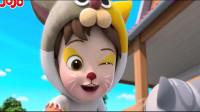超级宝贝:通过化妆变成了小花猫,哥哥变成了公鸡