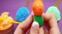 儿童动画雪花彩泥粘土手工制作玩具视频大全 小猪佩奇冰激凌彩蛋