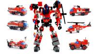 炽烈战神合体变形操作,他由6种消防车模型组合而成,喜欢吗?