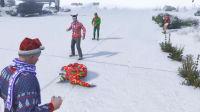 亚当熊GTA5,圣诞节活动(上)熊哥和粉丝一起打雪仗