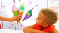 萌娃小可爱太想吃冰激凌了,可是妈妈不允许小家伙吃冰激凌他会怎么做呢?