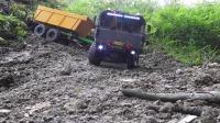 玩具益趣园多辆大货车玩具大铲车玩具在森林里