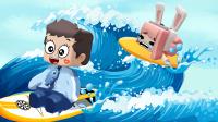 【木鱼】迷你世界:多人变身海底小纵队冲浪!