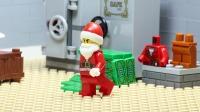 乐高城市圣诞老人和警察相遇了