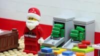 乐高城市圣诞老人在运送物资