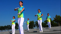 晨曦悠扬健身操第十四套第六节胯摆运动