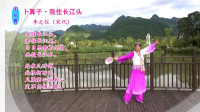 简单易学经典诗词大众舞(团扇舞):李之仪《卜算子·我住长江头》编跳舞紫色风信子(修正版)