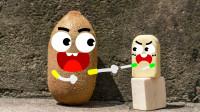 橡皮和猕猴桃能说话会吵架,也太搞笑了吧,原创爆笑动画
