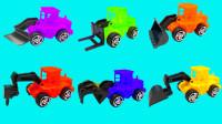不同颜色的工程车能找到正确位置吗?儿童早教动画,认识形状颜色