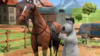 倒霉熊:贝肯戴上马鞍,做好准备工作