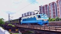 广铁特色SS8扫把动集Z8001(广州东-龙川+C7067(广州东-深圳)广深线车陂涌