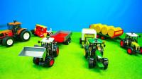 缤纷牵引车模型玩具运输粮食
