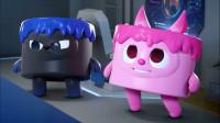 迷你特工队之超级恐龙力量:迷你特工队都变成了小蛋糕,麦思和蛋糕怪物单挑