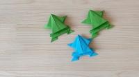儿童折纸教程,带你学习如何折叠可爱的小青蛙!