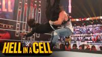 2020地狱牢笼大赛 伊莱亚斯将杰夫哈迪扛在肩上 一个翻转砸向擂台