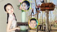 贾乃亮陪女儿玩极限运动,小甜馨好勇敢,之前的三口之家再难同框