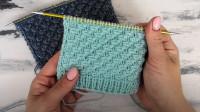 织出立体又好看的斜纹花样,横辫斜拉条编织教程,运用的范围很广