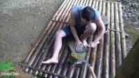 水稻哥 第116集 原始技能 锻造镰刀,修剪草坪 清扫整理 我的 小竹屋