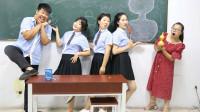 学霸王小九:美术课上画葫芦,谁画的最像有奖励,没想奖励是老师秘制烤肠