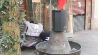 竖版小视频《济南街头火锅店的动态招牌》