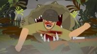 历史动画:二战日军对鳄鱼都不会放过