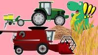 恐龙农场互动,工程车种小麦少儿动画