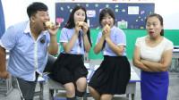 学霸王小九:学生比赛用嘴削土豆皮,没想学生的做法一个比一个逗,太有趣了