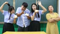 学霸王小九:老师让学生用头发切豆腐,一刀切成5大块10小块,女同学轻松完成