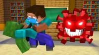 我的世界动画:怪物学院《英雄传奇》,him与索尼克守护同伴