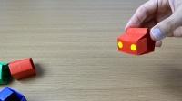 趣味课间折纸玩具:弹弹小汽车,适合3~7岁小孩子玩!