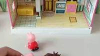 亲子幼教有趣玩具:三角龙能救出佩奇和乔治吗