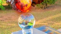水晶球能挡住1500度岩浆的攻击吗?老外作死亲测,全程高能!