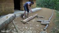 水稻哥 第120集 原始技能 用简单的工具做一张舒适的木床