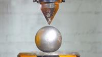 用液压机碾压最坚硬的铁球会断裂吗?