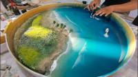 环氧树脂有多神奇?牛人打造一张海洋餐桌,看过的都说强!