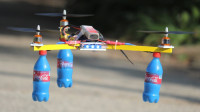三个可乐瓶就能造一架无人机?牛人一顿嚯嚯,效果太惊艳了!