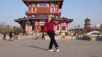 网络热歌广场舞《你若春光》,舞步简单时尚,附分解教学