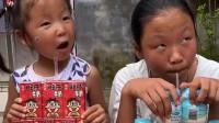 亲子乐园:姐姐和妹妹都是这么多奶一起喝的吗?