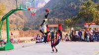 河南乡村篮球赛,这样的配合简直太默契了!