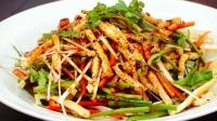 老豆腐不好吃?那是你没做对,切成丝,加上这几样配菜,口感爽脆